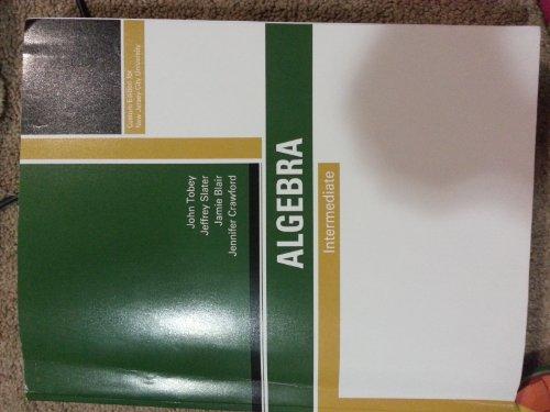 9781256832324: Intermediate Algebra - Customized for New Jersey City University