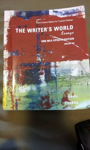 9781256840268: The Writer's World