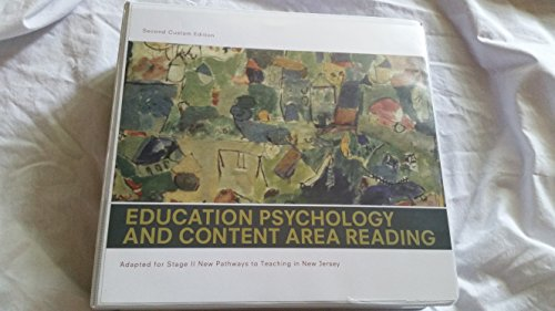 9781256841715: Education Psychology and Content Area Reading: Adapted for Stage II New Pathways to Teaching in New Jersey