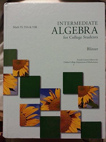9781256853237: Intermediate Algebra for College Students