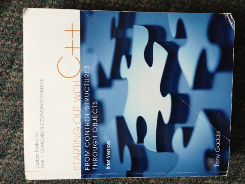 9781256858966: Starting Out with C++: From Control Structures Through Objects - Brief Version