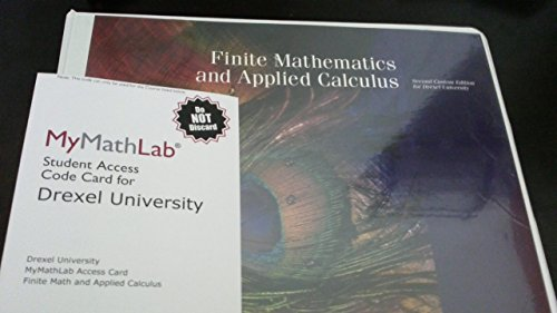 9781256874478: Finite Mathematics and Applied Calculus