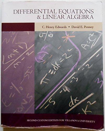 9781256918967: Differential Equations & Linear Algebra [2nd Custom Edition for Villanova]