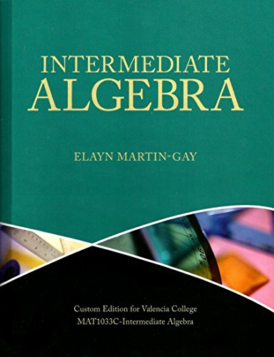 9781256926436: Intermediate Algebra (Valencia College)