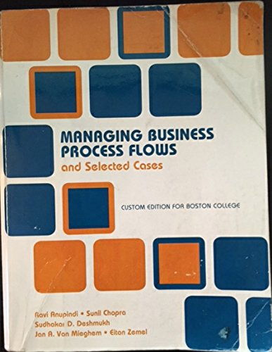 9781256932178: Managing Business Process Flows and selected cases A custom edition for Boston College