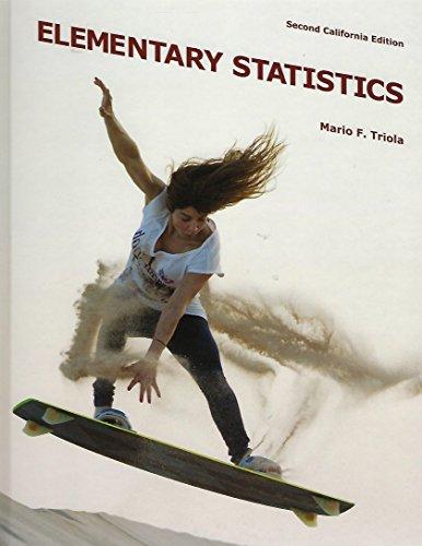 Elementary Statistics, 2nd Edition: Mario F. Triola