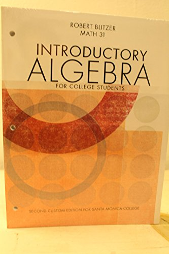 9781256948520: Introductory Algebra for College Students My Math Lab Plus A La Carte Package Santa Monica College, 1/e