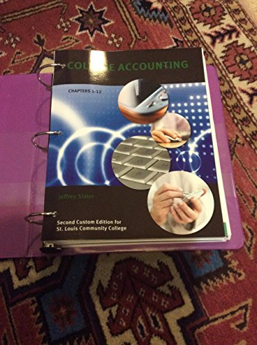 9781256983989: College Accounting Chapters 1-12 St. Louis Community College Edition