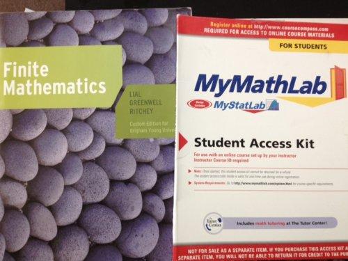 9781256984856: Finite Mathematics (Custom for BYU) with Mymathlab Access Code