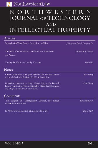 9781257747849: Northwestern Journal Of Technology & Intellectual Property V9.7