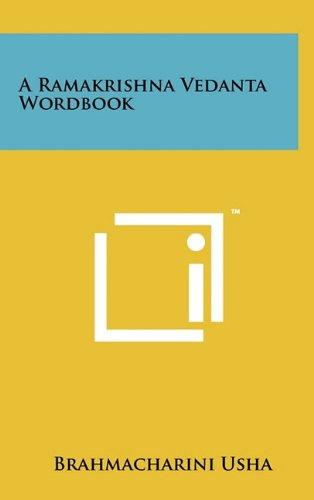9781258000486: A Ramakrishna Vedanta Wordbook