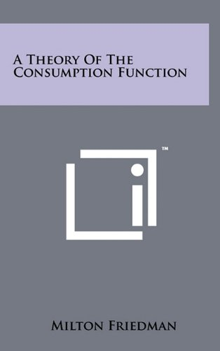 9781258000998: A Theory Of The Consumption Function