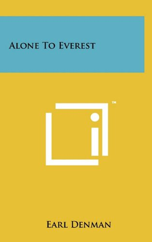 9781258001018: Alone to Everest
