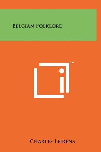 9781258018078: Belgian Folklore