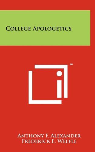 9781258020132: College Apologetics