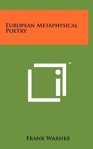 9781258025212: European Metaphysical Poetry