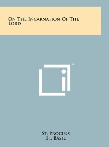 9781258033873: On the Incarnation of the Lord
