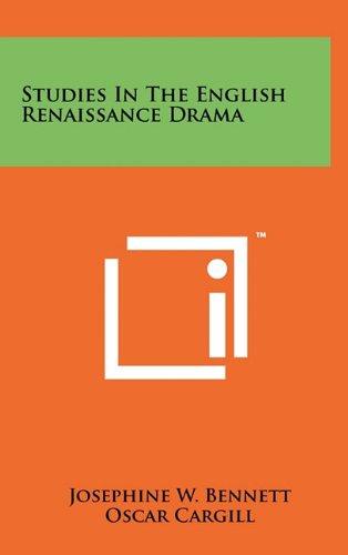 Studies in the English Renaissance Drama: Literary Licensing, LLC