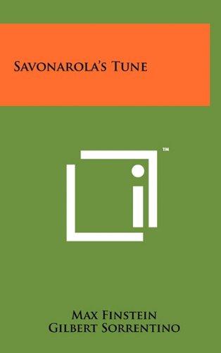 9781258055646: Savonarola's Tune