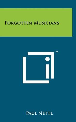 9781258080655: Forgotten Musicians