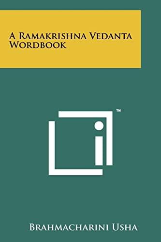 9781258110789: A Ramakrishna Vedanta Wordbook