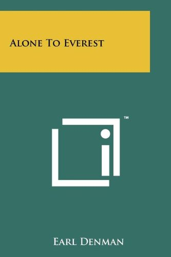 9781258111311: Alone To Everest
