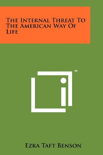 9781258112042: The Internal Threat To The American Way Of Life
