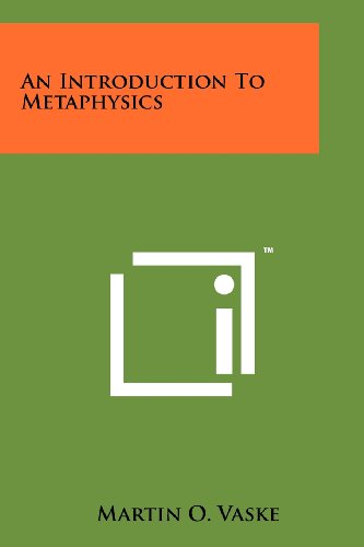 An Introduction to Metaphysics (Paperback or Softback): Vaske, Martin O.