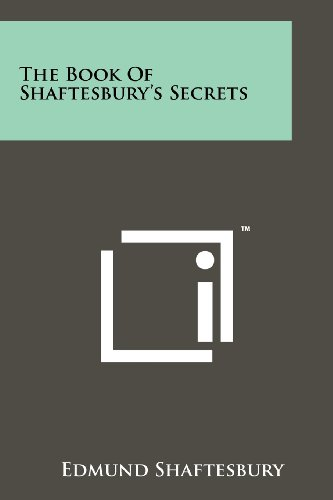 9781258117528: The Book Of Shaftesbury's Secrets