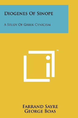 9781258129132: Diogenes Of Sinope: A Study Of Greek Cynicism