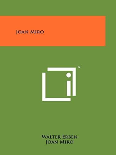 9781258134716: Joan Miro
