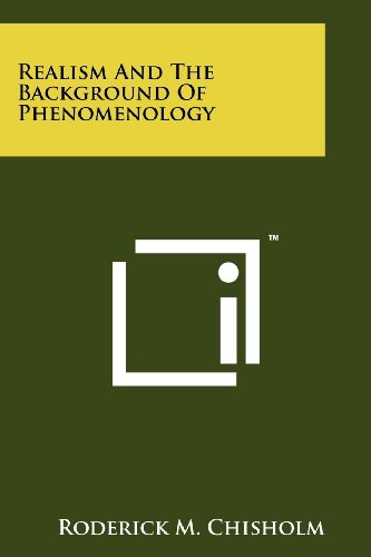 9781258144326: Realism and the Background of Phenomenology