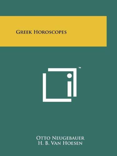 9781258167172: Greek Horoscopes