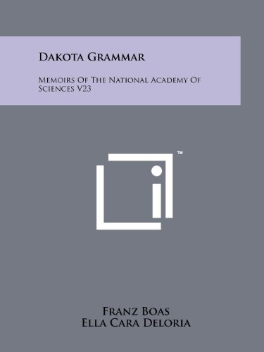 9781258176464: Dakota Grammar: Memoirs Of The National Academy Of Sciences V23