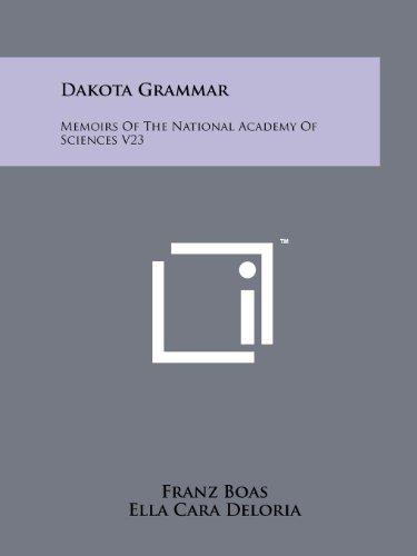 9781258176464: Dakota Grammar: Memoirs Of The National Academy Of Sciences V23