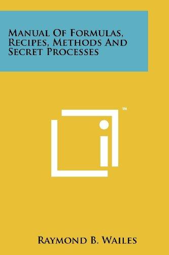 9781258177102: Manual Of Formulas, Recipes, Methods And Secret Processes
