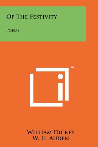 9781258188825: Of the Festivity: Poems
