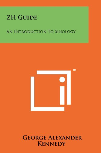 9781258190620: Zh Guide: An Introduction to Sinology