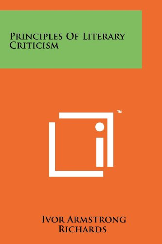 9781258214098: Principles Of Literary Criticism