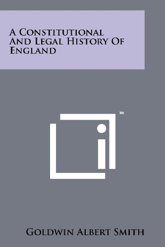 9781258215354: A Constitutional And Legal History Of England