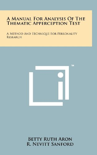 A Manual for Analysis of the Thematic: Aron, Betty Ruth