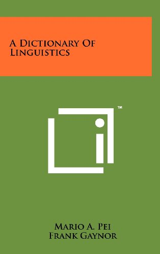 9781258222666: A Dictionary of Linguistics