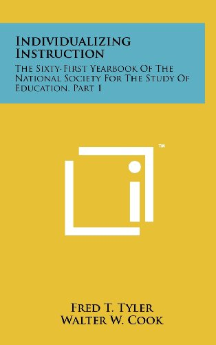 9781258229108: Individualizing Instruction: The Sixty-First Yearbook of the National Society for the Study of Education, Part 1