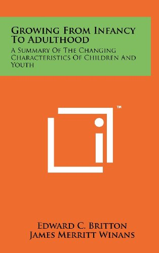 9781258236939: Growing from Infancy to Adulthood: A Summary of the Changing Characteristics of Children and Youth