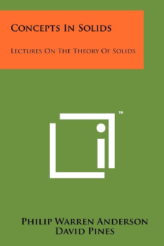 9781258241803: Concepts In Solids: Lectures On The Theory Of Solids