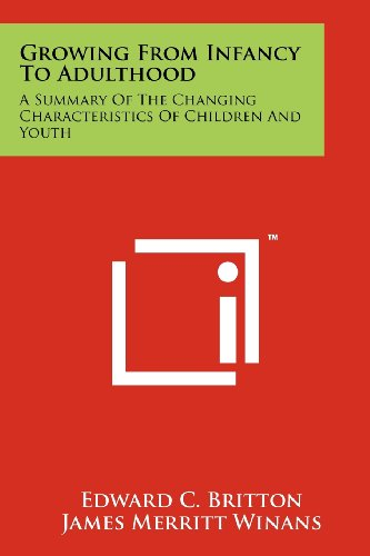 9781258244811: Growing from Infancy to Adulthood: A Summary of the Changing Characteristics of Children and Youth