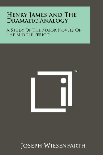 9781258245177: Henry James And The Dramatic Analogy: A Study Of The Major Novels Of The Middle Period
