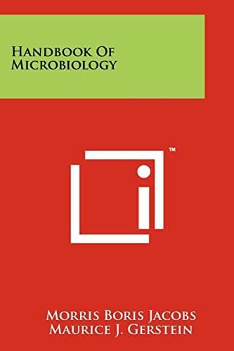 9781258266219: Handbook of Microbiology