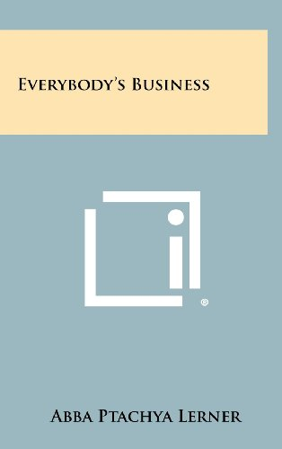 9781258273514: Everybody's Business