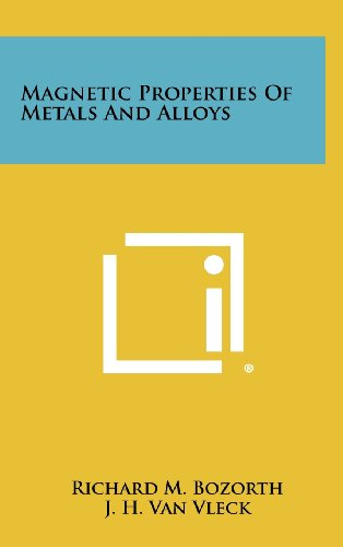 9781258284817: Magnetic Properties Of Metals And Alloys